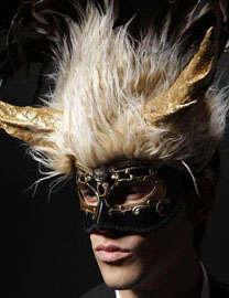 Crystal-Studded Man Masks
