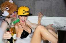 Hipster Bubble Bath Shoots - The Karmaloop Autumn/Winter Lookbook is Super Cheeky
