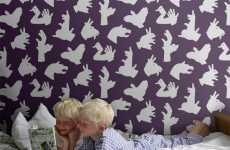 Playful Hand Backdrops - The 'Handmade' Shadow Puppet Wallpaper Encourages Creativity