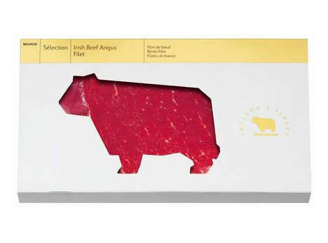 Cow-Shaped Steaks