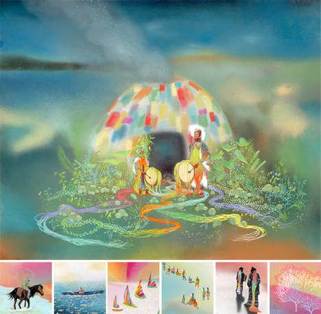 Trippy Technicolor Art