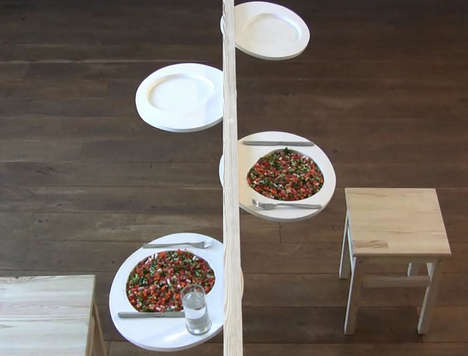 Barely-There Dinner Tables - The Very Slim Table by Nilly Landao Exemplifies Minimalist Decor