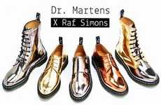 Metallic Punk Boots - Dr. Martens & Raf Simons Boots Hit the Market (UPDATE)