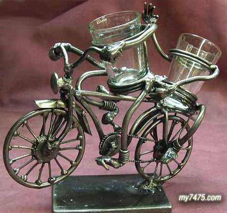 Tandem Bicycle Glasswear