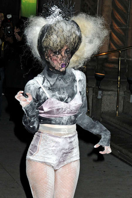 Lacey Face Masks - The Lady Gaga Ace Awards Ensemble Defies Description