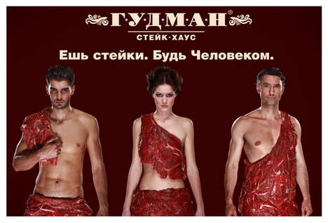 "Raw Meat Fashions - The ""Eat Your Steak. Be A Man."" Campaign From Goodman Steak House"