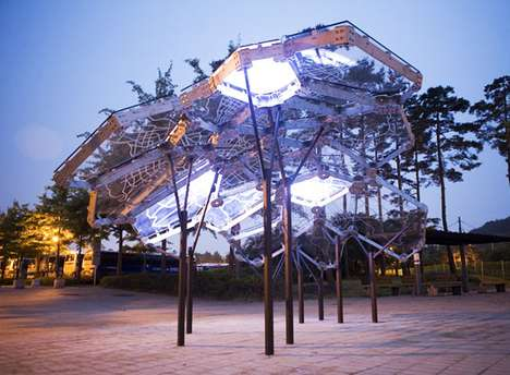 The Amazing Living Light Sculpture in Peace Park South Korea