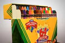 Massive Crayon Cakes - This Dessert Sensation is an Enormous Crayola 64 Box