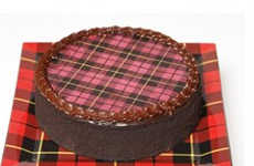 Plaid Pattern Cakes - The Isaac Mizrahi Cheesecake and Cookies for QVC