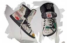 Neo-Expressionist Art Kicks - The Jean Basquiat Sneakers are Art for Your Feet