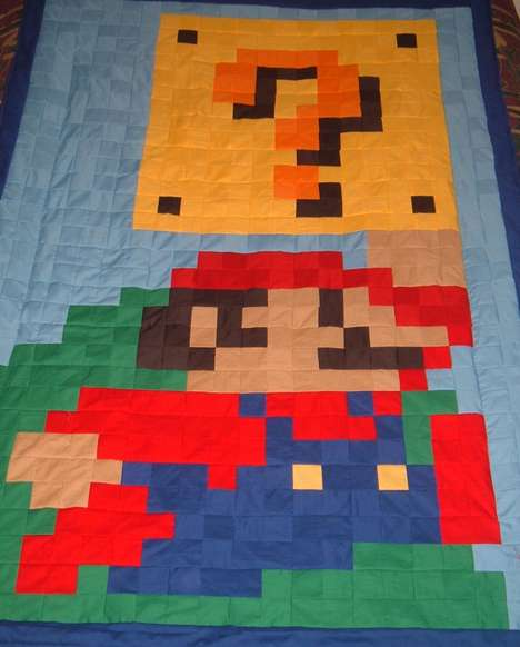 Geektastic Quilts - Super Mario-Inspired Video Game Blankets