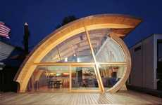 Harmonious Houseboats - Robert Harvey Oshatz Inspires With His Wood and Waves Fennell Residence
