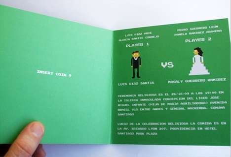 Geeky Invitations - 8-Bit Wedding Invitation Compares a Wedding to 'Street Fighter'