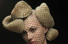 Netted Faces & Mollusk Hair - 'Big Hair' by Saima Altunkaya Features Avant-Garde Styles
