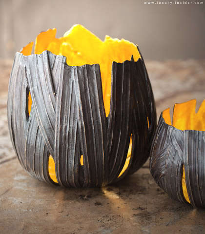Luxe Leather Pumpkins