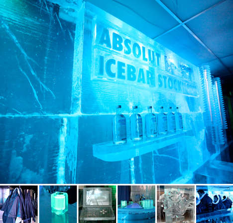Frozen Liquid Lounges - The Absolut Icebar in Stockholm is a Cool Way to Party