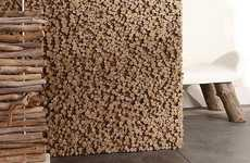 Pixelated Wooden Walls - The Bleu Nature Driftwood Wall Features an Unconventional Design