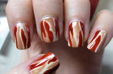 Tasty Manicures - The Bacon Nails are an Epicurean Fashion Statement