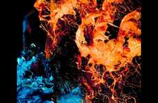 Paint-Exploding Photography - Gabrield Wickbold Plays With Fire and Ice