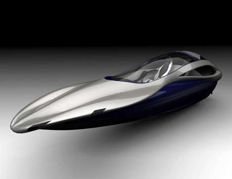 Sleek Wedge-Shaped Speedboats