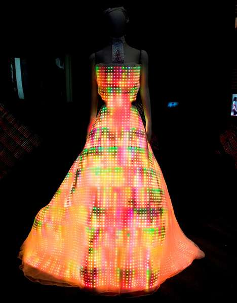 Luminous LED Dresses - The Galaxy Dress has 24,000 LEDs and 4,000 Swarovski Crystals