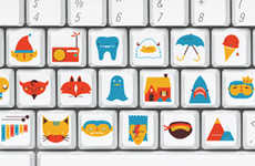 Custom Picture Keyboards - These Keyboard Stickers Replace Letters with Illustrations