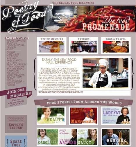 Insightful Food Webzines
