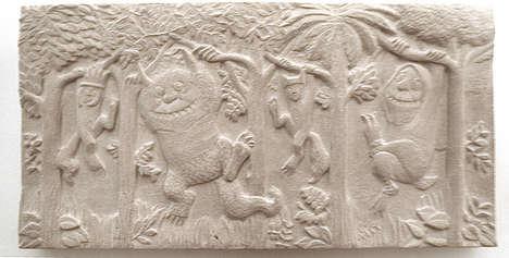 Cartoon Stone Carvings