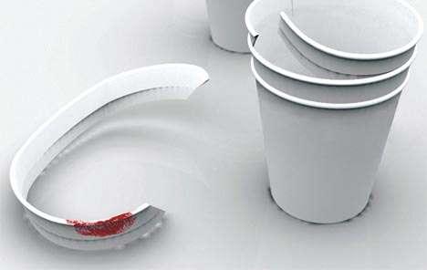 Peel-Away Paper Cups
