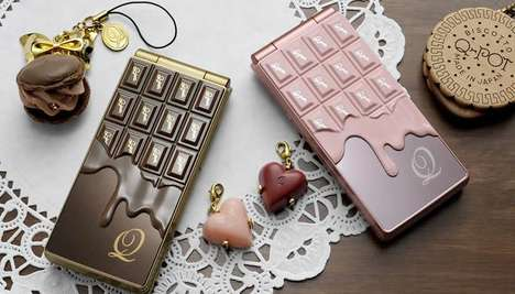 The Melting Chocolate Motif Mobile Phone is a Treat to the Eyes