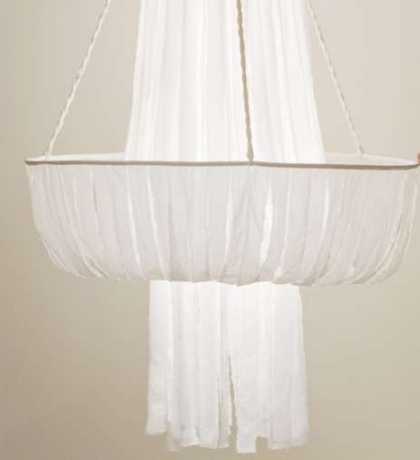 The Textile Chandelier by Judith Seng is  Simple and Sophisticated