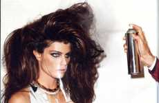 Colossal Coif Editorials - Supermodel Isabeli Fontana in 'Blow Up' for Vogue Us