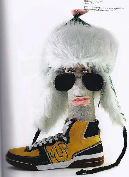 Recycled Socks as Models