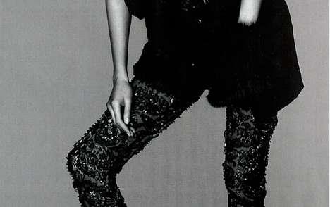 Embellished Black Leggings