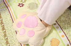 Paw-Shaped Foot Warmers - Keep Your Toes Toasty With Heated Anime-Inspired Feet Cushions