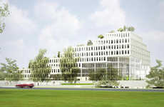Tree-Top Architecture - The NL Architects Sozawe Creates a Tiered Eco-Friendly Office Building