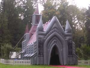 Inflatable Church - Make Your Wedding Cheesy