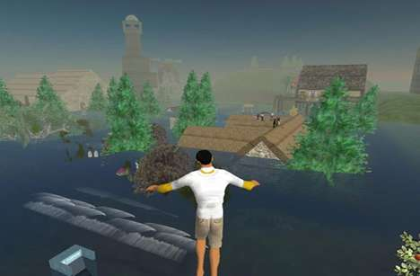 Tokyo and London Flooded by Eco-Disaster...In Second Life
