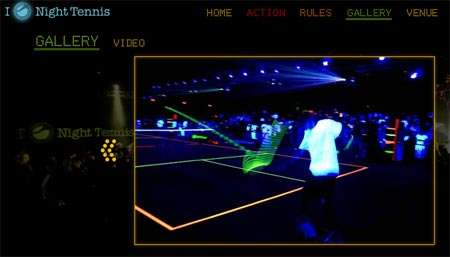 Disco Tennis -  Sony Ericsson Disco Bowling is All About UV Lights and Raquets