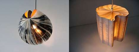 Recycled Furniture - Lamp Made from Books