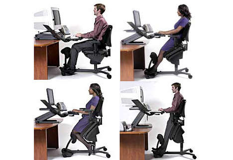 Work In Different Positions With The Stance Angle Chair