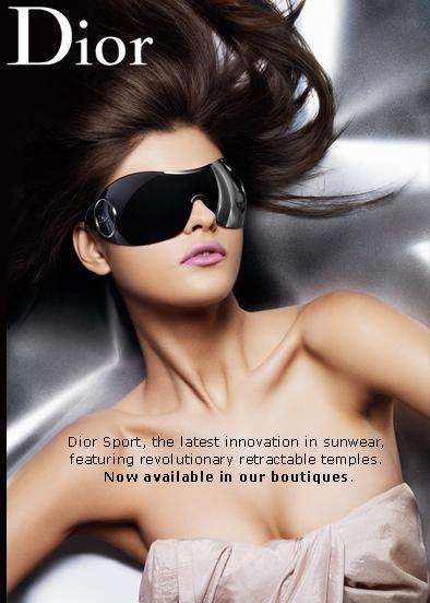 Dior Sport Sun Mask Sunglasses Look Ready for Outer Space