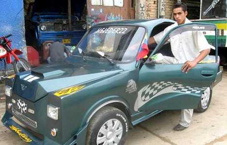 Cheap Cars - 23 Year Old Colombian Builds $2000 Car