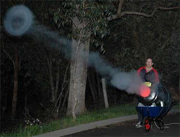 Huge Generator Blows 4 Foot Smoke Rings