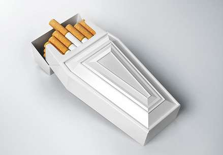 Casket-Shaped Cigarette Cases