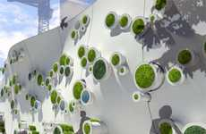 Eco Construction Buffers - The Symbiotic Green Wall Makes for an Eco-Friendly Barrier