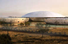 Flying Saucer Curvitecture - The Dish-Shaped International Conference Center in Ouagadougou