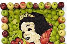 Edible Cartoon Art - The Snow White Apple Images Make Us Want to Take a Bite