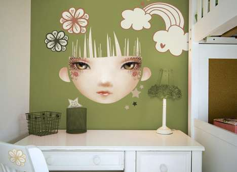 Anime Face Walls - Chocovenyl Children's Wall Decals by Leading International Artists