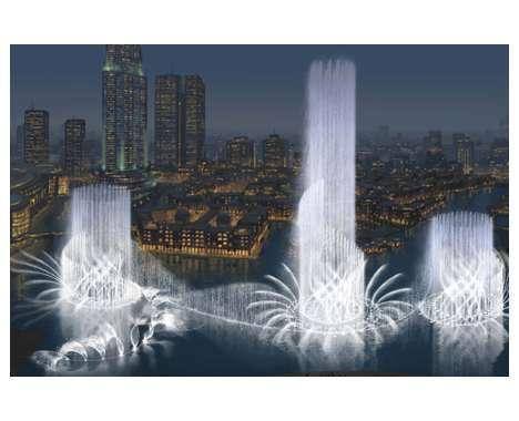 Water Sculptures Vortex Fountains By William Pye